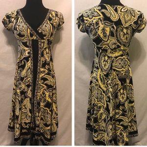 LIKE NEW INC Flowy Midi Dress - Asymmetrical Hem